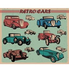 set of retro cars vector image vector image