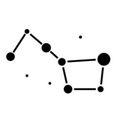 stars - big dipper - great bear icon vector image