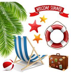 Summer set vector image vector image