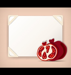 Vintage background with pomegranates vector image vector image