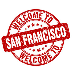 Welcome to san francisco vector