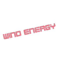 wind energy rubber stamp vector image