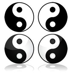 Yin-yang vector image vector image
