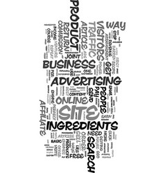 Your recipe for online success text word cloud vector