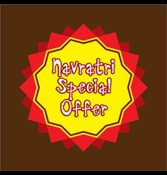 navratri special offer banner design vector image