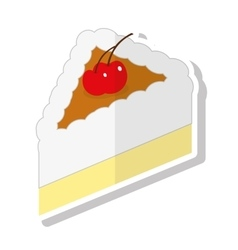 Delicious sweet cake portion vector