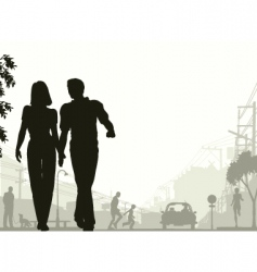 street stroll vector image