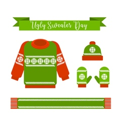 Ugly sweater day vector