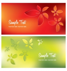 floral card backgrounds vector image