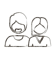 Blurred silhouette with half body couple without vector