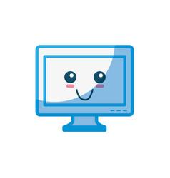 tv cute cartoon vector image