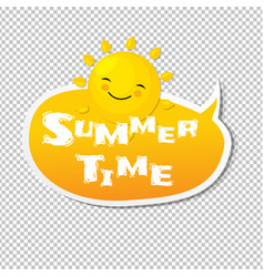 Summer time speech bubble vector