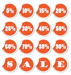 Sale set orange vector