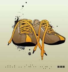 sneakers gym-shoes vector image