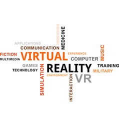 Word cloud virtual reality vector