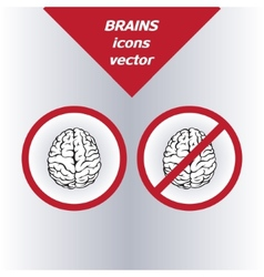 Brain icons on the white background vector