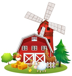Animals and farm vector