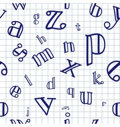 Alphabet seamless background vector