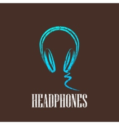 Vintage with a headphones vector