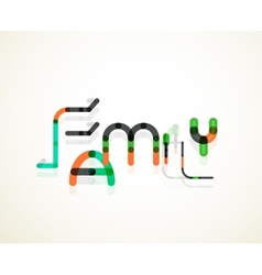 Family word concept vector
