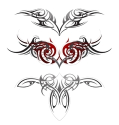 Body art tattoo set vector