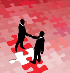 business partners vector image