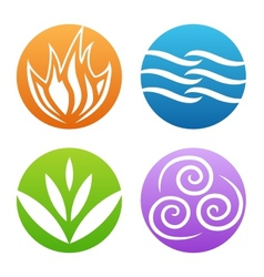 Symbols of four elements vector