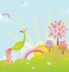 Enchanting landscape vector