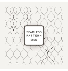 Set of seamless patterns point of wavy vector