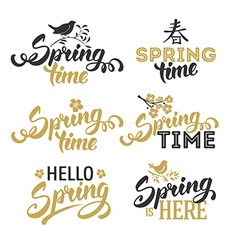 Spring overlays vector