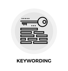 Keywording line icon vector