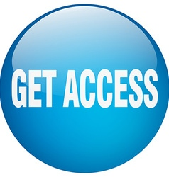 Get access blue round gel isolated push button vector