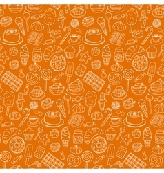 Sweets doodle seamless pattern vector