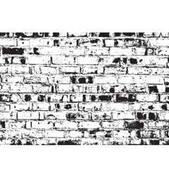 Distressed brick wall vector