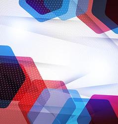Abstract hexagon geometric background vector
