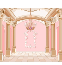 Ballroom of magic castle vector image vector image