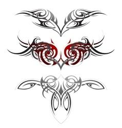 Body art tattoo set vector