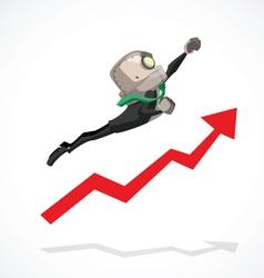 Businessman go up vector