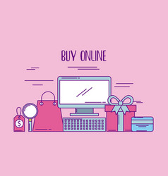 buy online computer price tag gift bank card vector image vector image