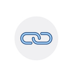 chain hyperlink internet link web icon vector image