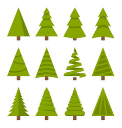 Christmas trees set vector