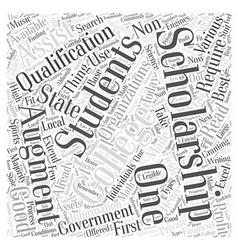 College information scholarship word cloud concept vector