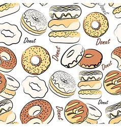 Donut seamless vector image vector image
