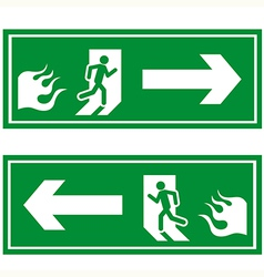 Fire exit 1 vector