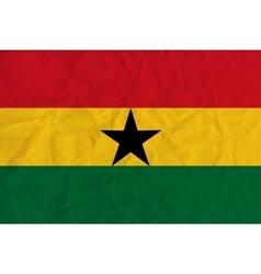 Ghana paper flag vector image