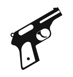 Gun black simple icon vector image