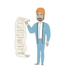 Hindu businessman presenting business report vector