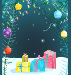 Holiday background for christmas or new year vector