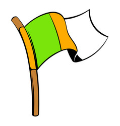 irish flag icon icon cartoon vector image vector image