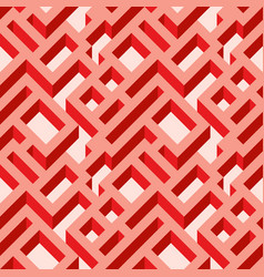 isometric seamless maze pattern vector image